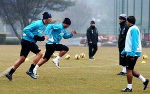 sport calcio inter allenamento